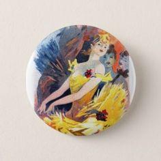 Vintage button cabaret dancer - retro gifts style cyo diy special idea