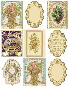 Magic Moonlight Free Images: Vintage Labels for you! Free images for . Vintage Diy, Images Vintage, Vintage Tags, Vintage Labels, Vintage Ephemera, Vintage Paper, Vintage Prints, Vintage Frames, Printable Labels