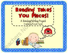 Reading Project: Reading, Writing, Craft, Bulletin Board Display product from Tejedas-Tots-K-2 on TeachersNotebook.com