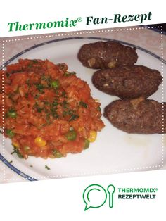 Cevapcici mit Djuvec Reis Cevapcici with Djuvec rice by A Thermomix ® recipe from the main course with meat category www.de, the Thermomix ® community. Frozen Meatball Recipes, Baked Meatball Recipe, Easy Casserole Recipes, Easy Dinner Recipes, Soup Recipes, Drink Recipes, Homemade Meatballs Crockpot, Grape Recipes, Italian Recipes