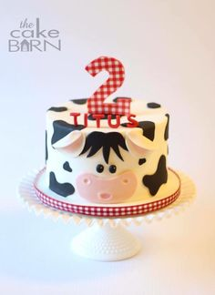 Birthday Party Food Ideas Farm 20 Ideas For 2019 Cow Birthday Parties, Farm Birthday Cakes, Baby Boy Birthday Cake, Farm Animal Birthday, Theme Parties, 2nd Birthday, Birthday Ideas, Birthday Banners, Birthday Invitations