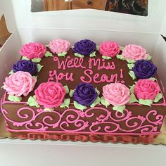 90th Birthday Cakes, Birthday Parties, Sheet Cake Designs, Bakery Cakes, Chocolate Buttercream, Cake Decorating, Birthdays, Party Ideas, Goals