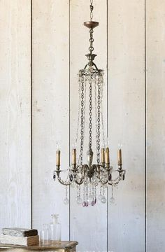 Antique French Chandelier Upscale Furniture, French Chandelier, Urban Loft, Led Flashlight, Vintage Decor, French Antiques, French Country, Cottage, Ceiling Lights