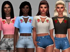 Copine Tops by Margeh-75 at TSR • Sims 4 Updates