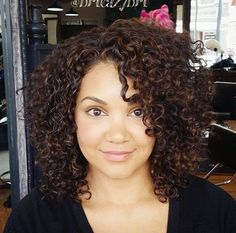 black+curly+hairstyle quick weave idea