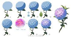 紫陽花畫法 - Google 搜尋