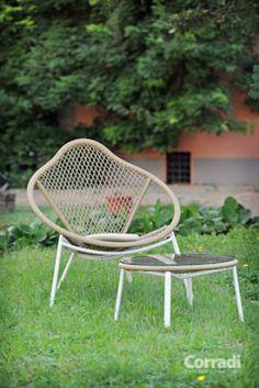 Linea Too deep Corradi - poltrona e tavolino #arredo #giardino