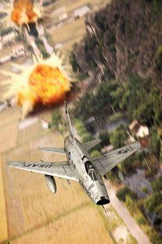 Bomb Run ~ F-100D Super Saber.