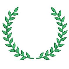 Machine Embroidery Design Instant Download - Laurel Wreath 1 by KnottyRoseDesigns on Etsy https://www.etsy.com/listing/124580242/machine-embroidery-design-instant