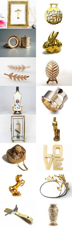 Gold Heart Attack 16 Shops  by Elinor Levin on Etsy--Pinned with TreasuryPin.com