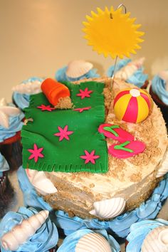 summer party cake