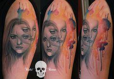 #tattoofriday - Simona Borstnar, Eslovênia. #tattoo #tatuagem #realismo #aquarela #inked