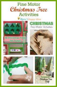 A fun collection of fine motor Christmas tree activities for kids from Mama's Happy Hive