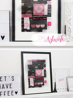 DIY Artwork: How to reuse empty makeup boxes #Upcycling #DIY
