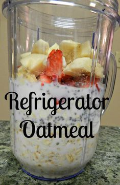 Refrigerator Oatmeal recipe: An easy breakfast idea from Notes from a Newlywed Wrap Recipes, Clean Recipes, Real Food Recipes, Skinny Recipes, Healthy Recipes, Refrigerator Oatmeal Recipes, Breakfast Dishes, Breakfast Recipes, Plan Ahead Meals