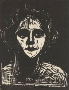 Edvard Munch, Portrait of a Young Woman, 1899, woodcut