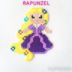 "Instagram photo by perler_art - Disney princess ~ ♫ Meghan Trainor ""All about the bass"" #love #princess #perlerbeads #happy #like4like #h..."