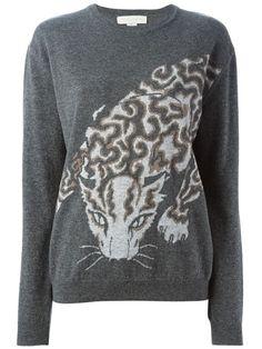 Stella McCartney свитер с принтом леопарда и круглым вырезом