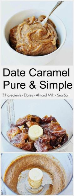 3 Ingredient Date Caramel (Vegan and Gluten-Free)! This date caramel recipe has three simple ingredients: Medjool dates, non-dairy milk, and sea salt. It's thick, creamy, and delicious…More