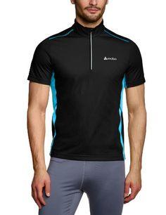 Odlo - Camiseta de running para hombre negra con cremallera #camiseta #realidadaumentada #ideas #regalo