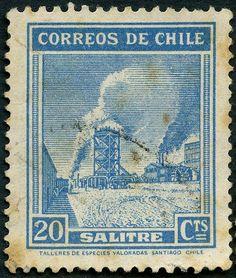 Salitre en Chile. Guapu sellu.
