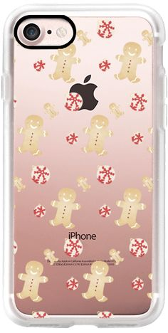 Casetify iPhone 7 Classic Grip Case - Gingerbread Christmas / Transparent by Miel Café Design #Casetify