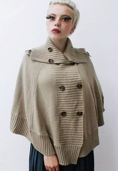 Buy & sell new, pre-owned & vintage fashion Vintage Knitting, Knitwear, Buy And Sell, Vintage Fashion, Beige, Coat, Jackets, Stuff To Buy, Down Jackets