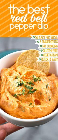 Fast & easy (only 5 min) 3-ingredient dip! Healthy, gluten-free & vegetarian too!