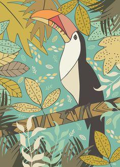 Forest Toucan  Art Print $16