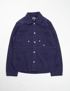 Nigel Cabourn Lybro Dark Navy Work Shirt