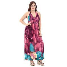 Bohemian print plus size Sleeveles maxi dress #maxidress #Bohemiandress #plussize #printed #bohostyle #boholooks #bohooutfits
