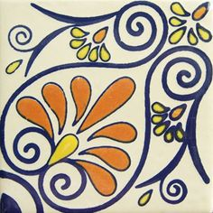 Mexican Talavera tile: oc 210  To go with Talavera sink in basement