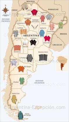 Ponchos de las distintas provincias