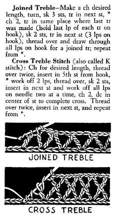 Joined Treble and Cross Treble Crochet Stitch How To  ✿Teresa Restegui http://www.pinterest.com/teretegui/✿