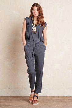 Amara Cross-Front Jumpsuit, Blue