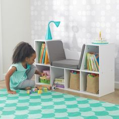 Bookcase with Reading Nook in White by KidKraft