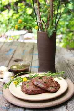Grilled Tarragon Garlic Steak on www.cookingwithru... will be your go to recipe for grilling!