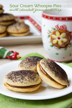 Cream Cookies (Soft like Whoopie Pies) with Chocolate Ganache Filling ...