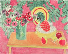 Matisse, Henri (1869-1954) Pineapple and Anemones, 1940 (oil on canvas)
