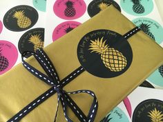 Macaroon personalized gift stickers, pineapple punch. Personalize online www.macaroon.co.za