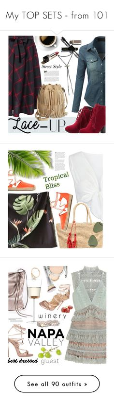 """""""My TOP SETS - from 101"""" by ansev ❤ liked on Polyvore featuring LE3NO, Patricia Nash, vintage, laceup, twinkledeals, Sensi Studio, Ray-Ban, Tory Burch, Summer and tropical"""