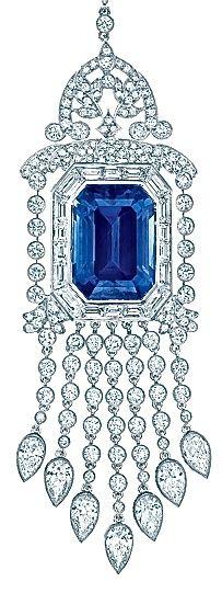 Tiffany's Sapphire and diamond pendant