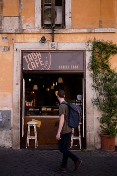 I apparently have similar taste to the Italians, but from my first Rome experience I'd say the Italians are unarguably KING of adorable cafe fronts. Italy Culture, Rome Italy, Running Away, Coffee Travel, Places Ive Been, Shots, Pizza, Europe, Italy