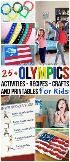 Celebrate the winter games with this diverse collection of Olympics activities for kids! Red, white, and blue party recipes; patriotic crafts; games; educational printables and more! #olympics #kidsactivities #crafts