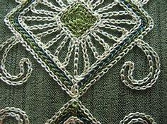cornely chain stitch embroidered garments - Bing images Chain Stitch Embroidery, Embroidery Stitches, Machine Embroidery, Indian Embroidery, Stitch Design, Linen Bedding, Needlework, Creations, Textiles