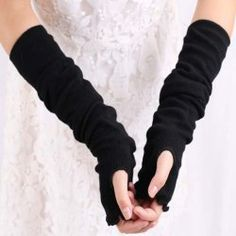 Pair of Stylish Simple Pure Color Fingerless Gloves For Women (RANDOM COLOR PATTERN) | Sammydress.com Mobile