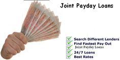 Many times your expenditure raises very much and your income become very small in front of them. To balance this thing you need extra cash, to make your life stressful. Then don't worry, bad credit joint loans arrange best loan services as per borrowers requirements. Apply for joint payday loans and get instant cash easily into your bank account.