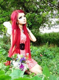 Living doll makeup| Anime girl Anastasiya Shpagina| Harajuku wedding ideas