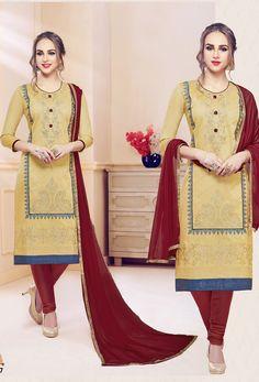 Salwar Kameez, Salwar Suits Pakistani, Churidar Suits, Art Marron, Salwar Suits Simple, Salwar Suits Party Wear, Beige Color, Indian Outfits, Casual Wear