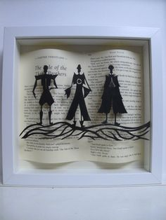 Fantastic idea to mount them over the book page!